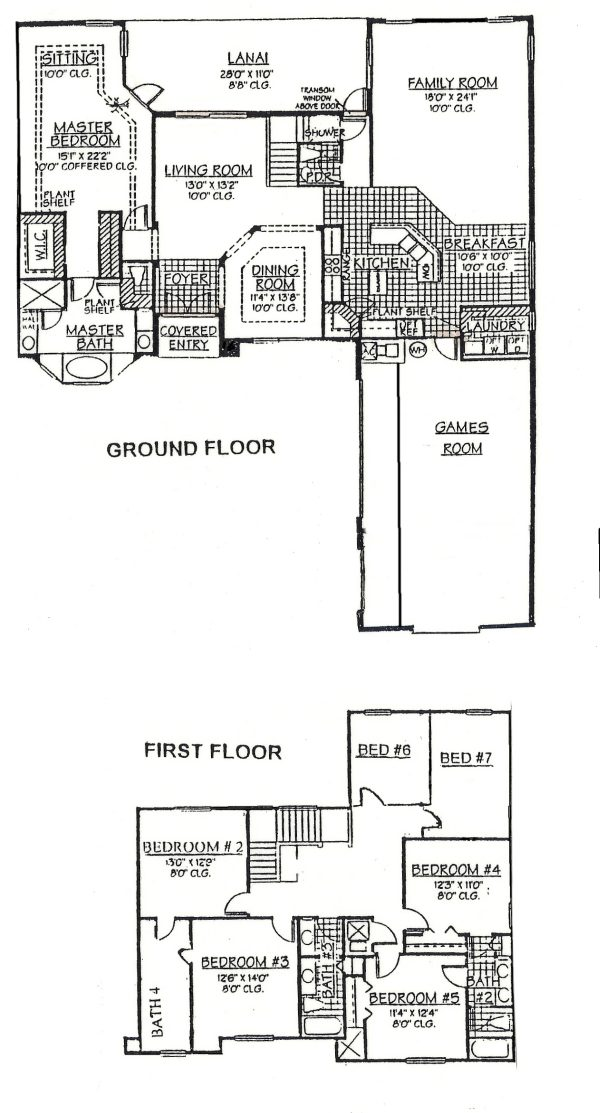 Floor Plan of Hampton Delight